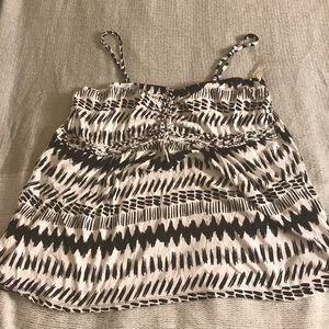 Tribal pattern tank with removable straps